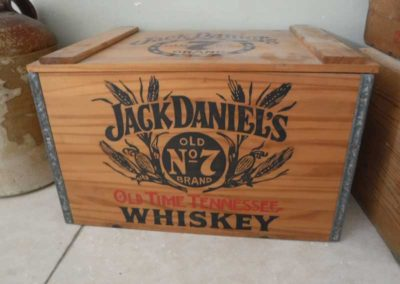 A 1990s Jack Daniel's Tennessee Whisky wooden crate